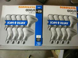 Sylvania Indoor Flood Light Bulbs BR30 65W 120V Value 9 Pack