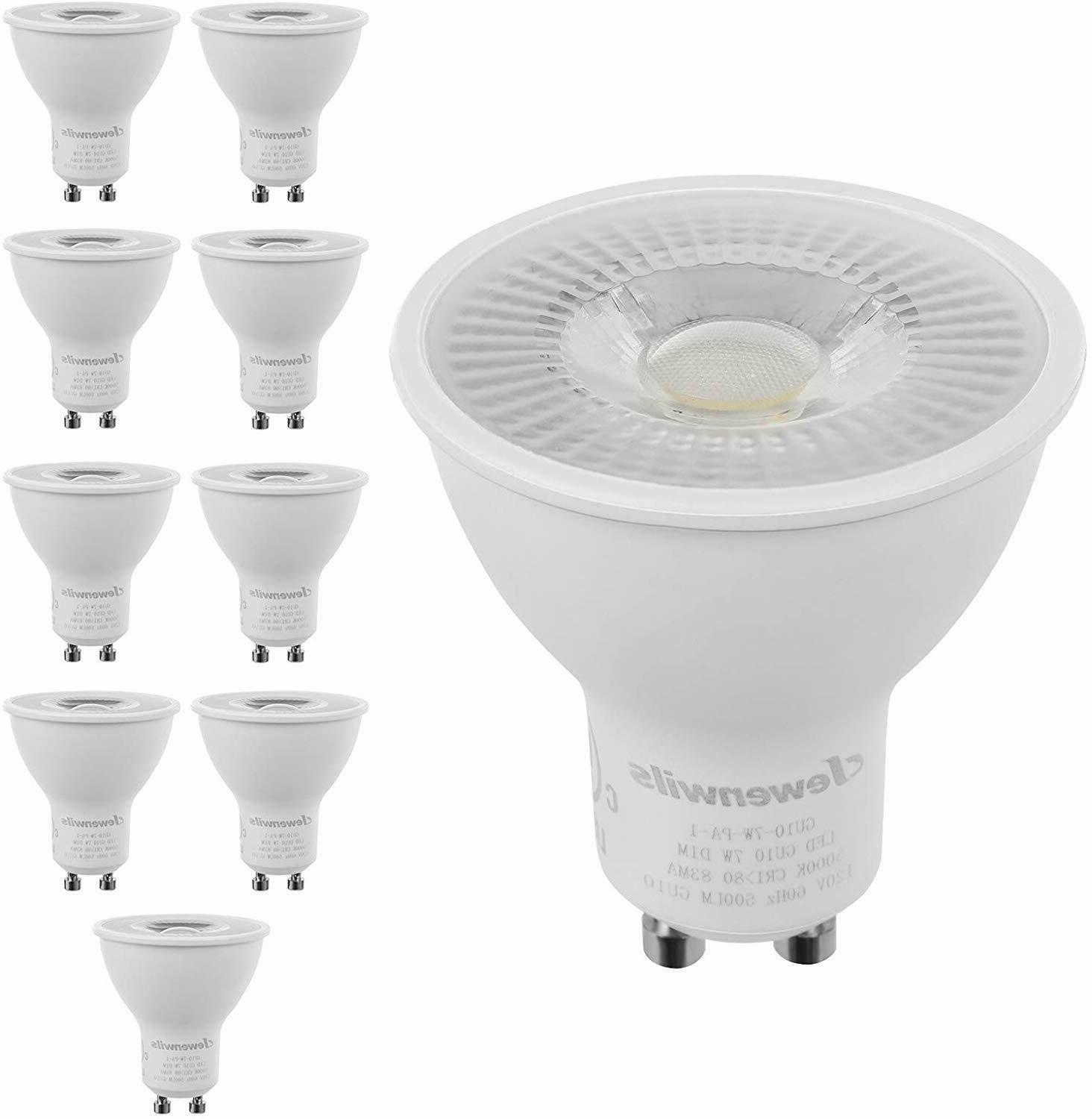 DEWENWILS 10-Pack GU10 LED Dimmable Bulb Daylight Track Ligh