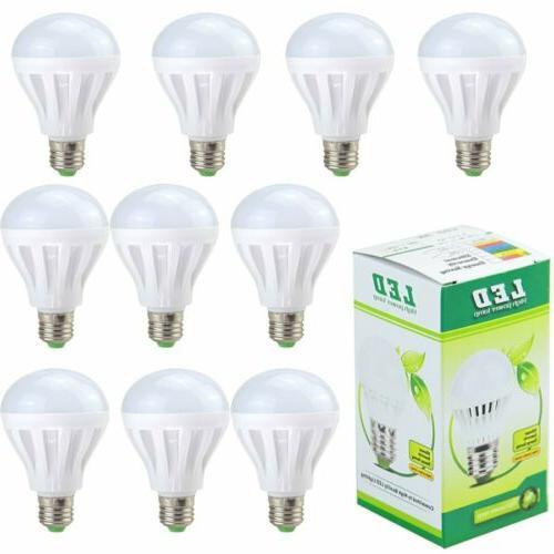 10PK 12W E26 LED Light Bulbs 100 watt equivalent Daylight Wh