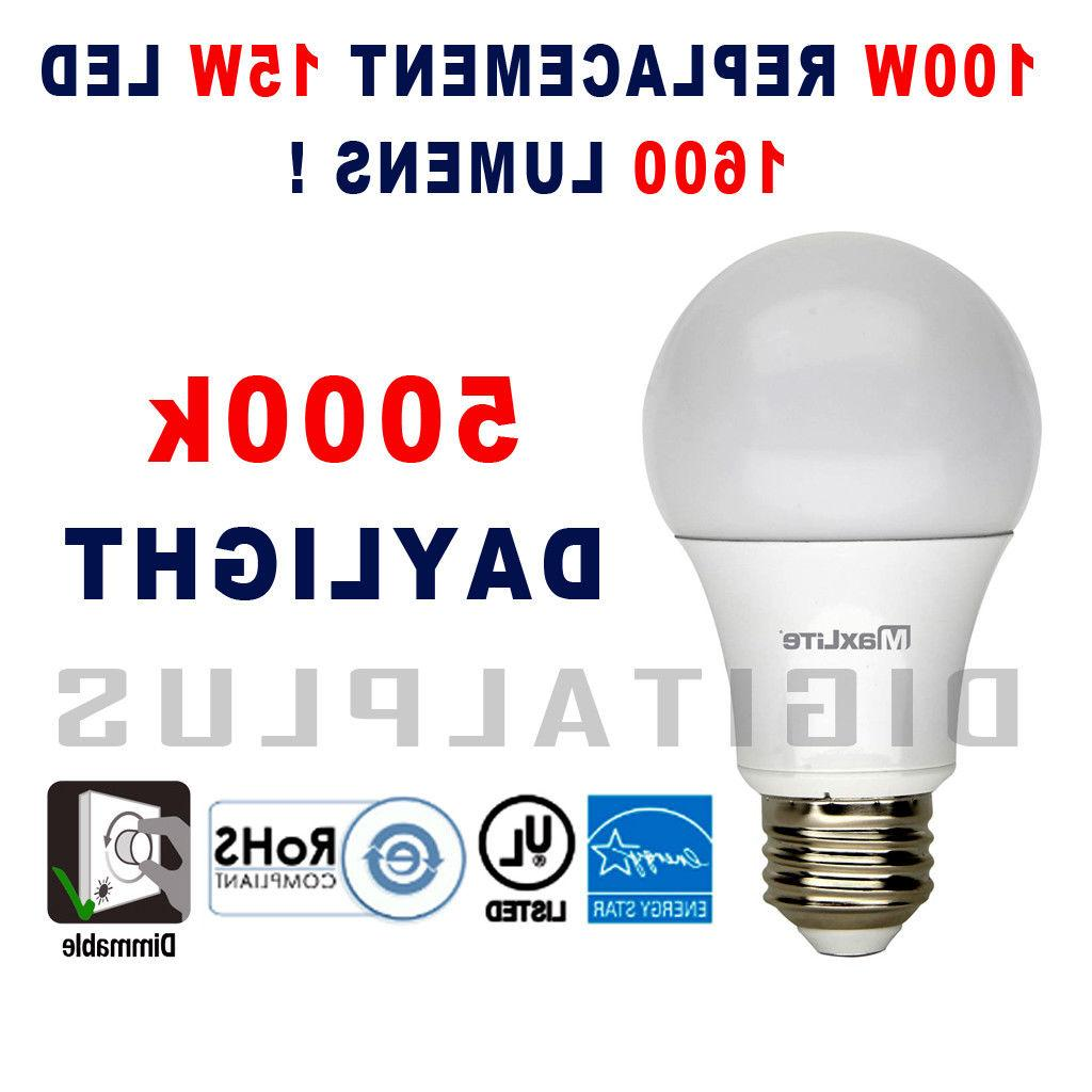12 100W Equivalent LED Light Bulb Daylight 5000K E26 Dimmable