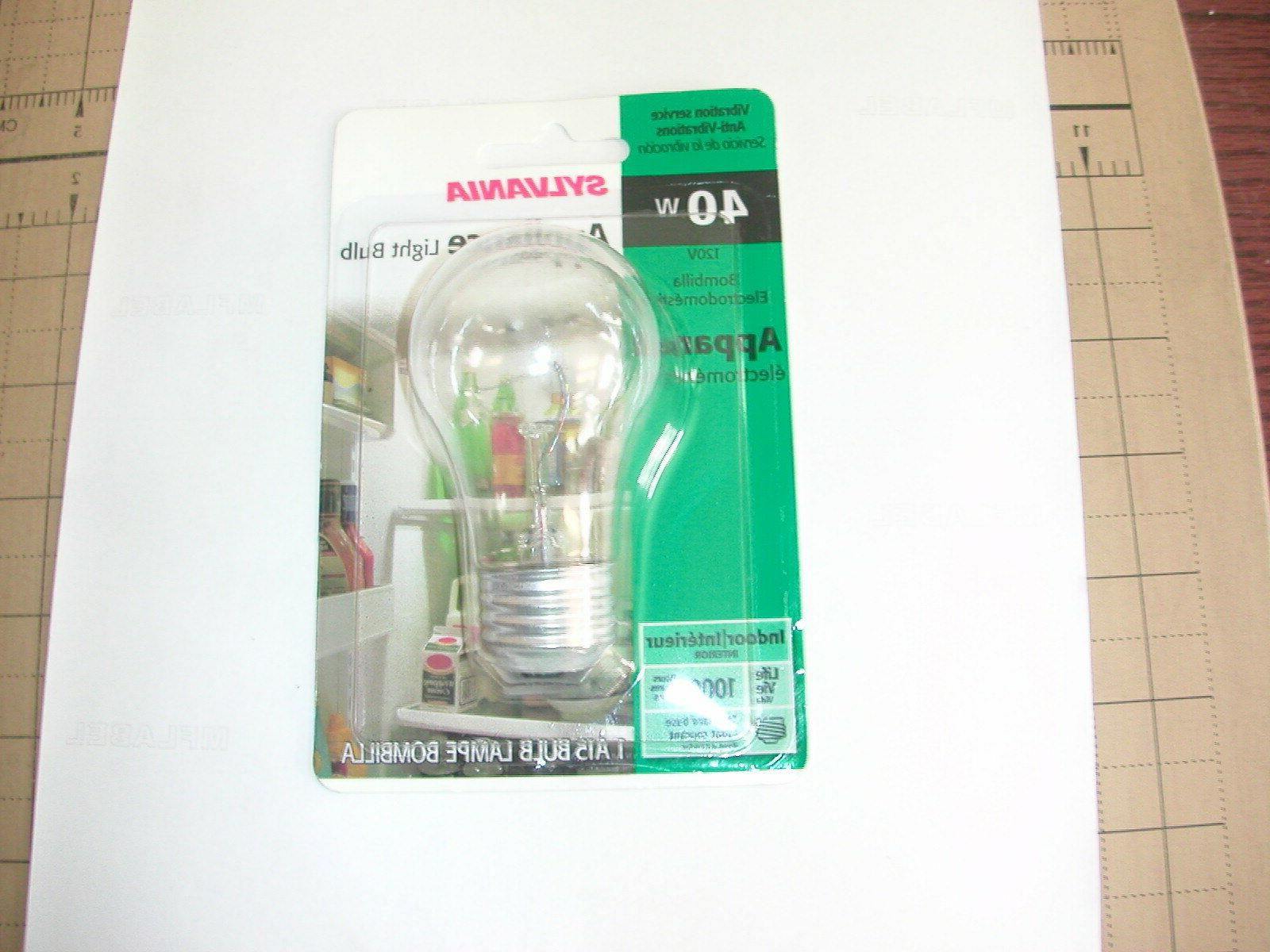 SYLVANIA 40W A15 APPLIANCE BULB CLEAR PACKAGE OF 2
