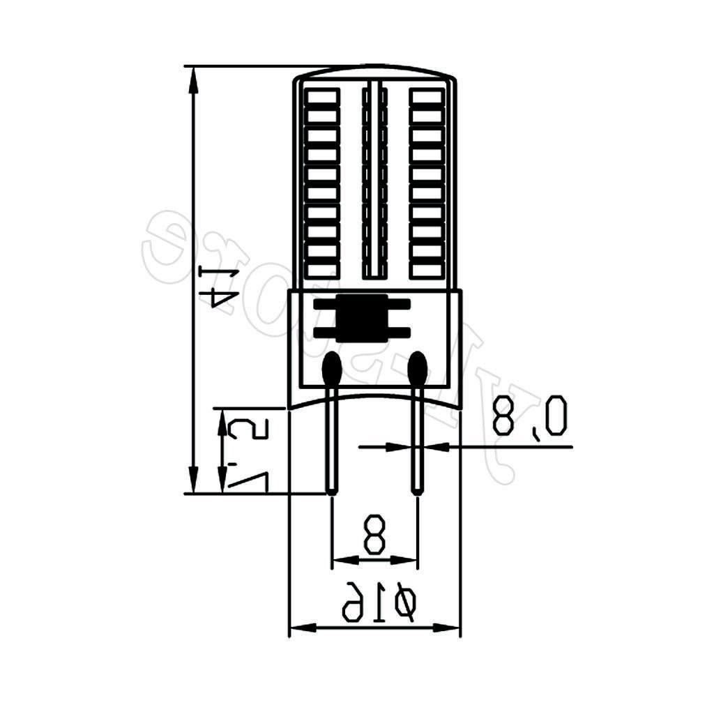 10pcs Bi-Pin T5 80 3014 DayLight Dimmable White 110V