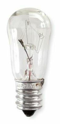 GE LIGHTING 10S6/10250v Incandescent Light Bulb, S6,10W