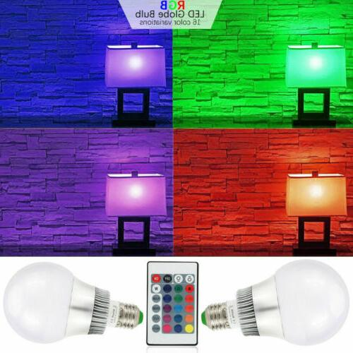 10W Dimmable LED Light Bulb 16 Color Memory Control