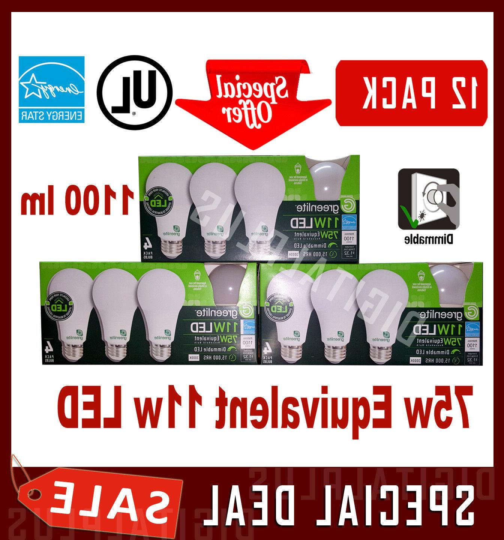 12 led light bulbs 75w equivalent 11w