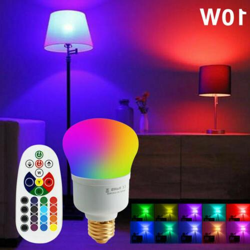 IR Remote Control 16 Color Changing Magic Light E26 E27 10W RGB LED Lamp Bulb