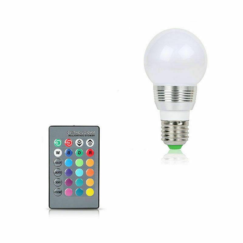 16 Changing Light LED Lamp Bulb Wireless Remote