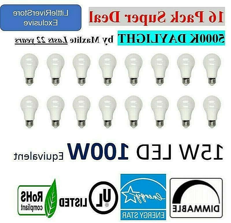 16 LED 15w 100w Light Bulbs DAYLIGHT 5000K or SOFT WHITE 270