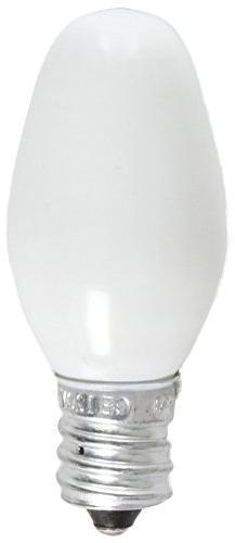 GE Lighting 16001 4-Watt C7 Night Light Bulb, White, 2-Pack