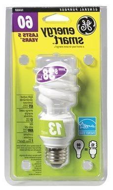 GE Lighting 16460 Energy Smart Spiral CFL 13-Watt  825-Lumen