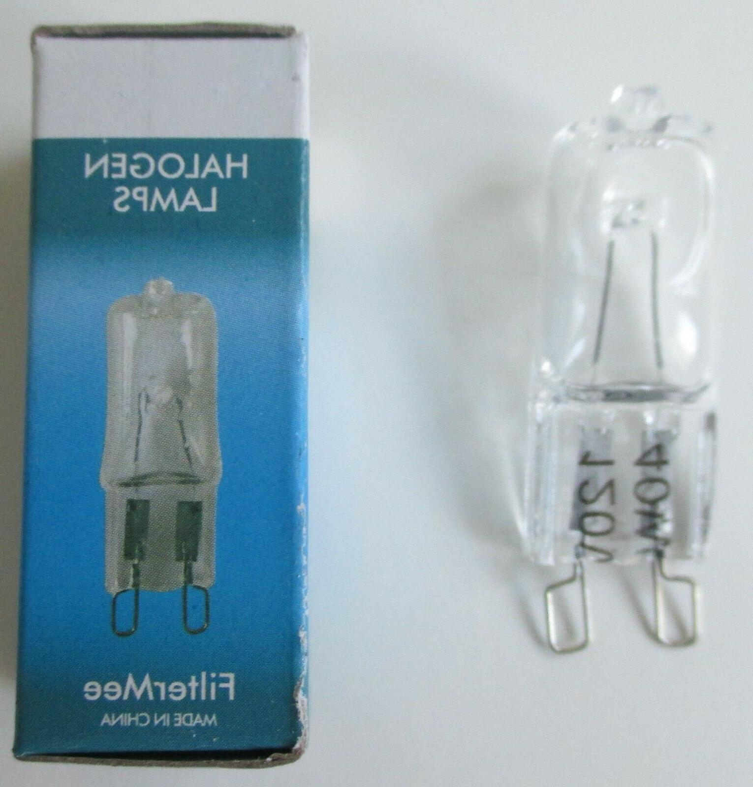 2 halogen light bulbs g9 120v 40w