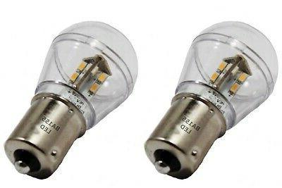 2 led bulbs ba15s bayonet base single