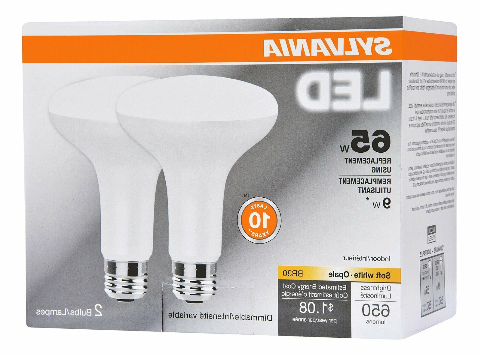 2 pack 65 watt equivalent br30 dimmable