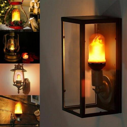 2 Pack LED Flame Effect E27 Lamp Decor