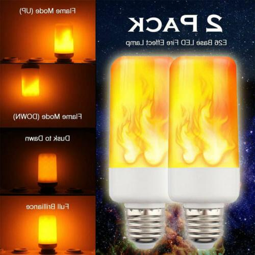 2-PACK LED Effect Fire Light Bulb Flickering Simulated