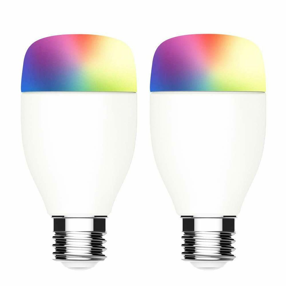2 pack smart wifi light bulb works