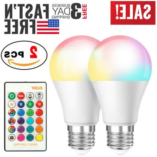 2 pcs 16 color changing light bulbs