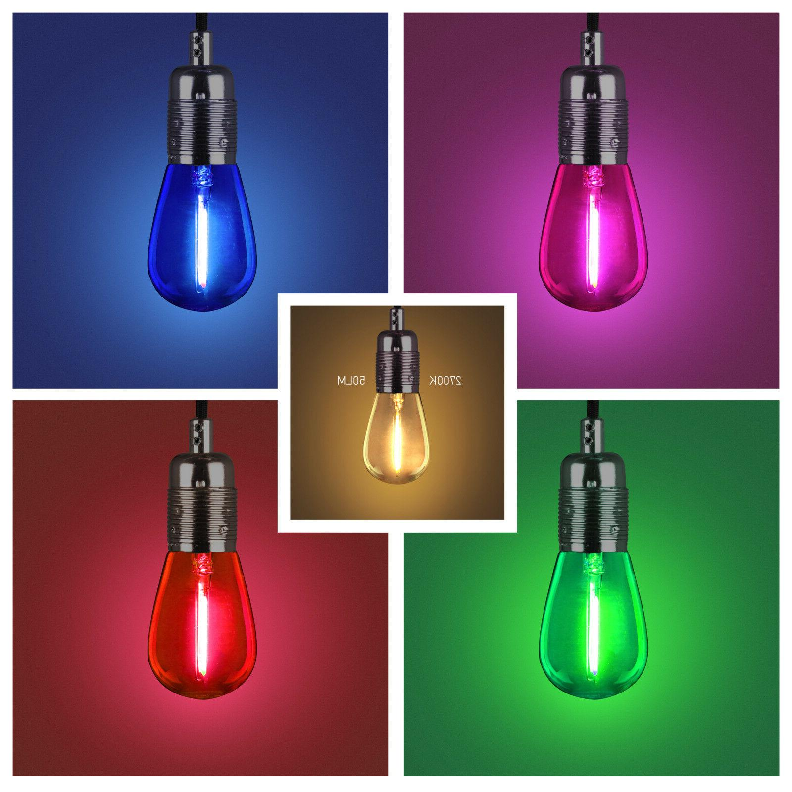 0 8w Coloured Led Light Bulbs E26 120v