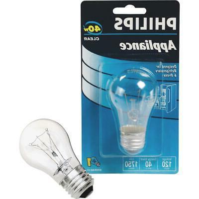 Philips 299990 Appliance Light Bulb, 40-Watt, A15 Glass Size