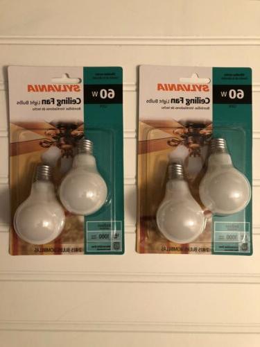 2pk a15 60w ceiling fan light bulbs