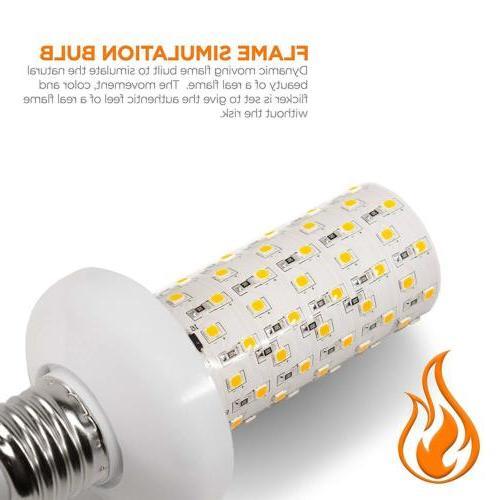 E26 LED Flicker Flame Light Bulb Simulated Burning Fire Effe