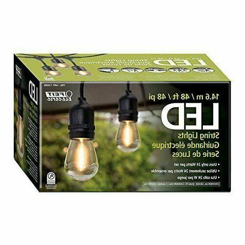 3 NEW Feit String Bulb S14/822/PC Clear Bulbs