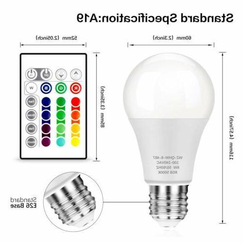 3 PCS 16 Remote LED Bulb