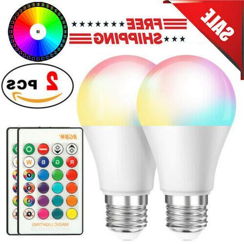 3 pcs 16 color changing light bulbs