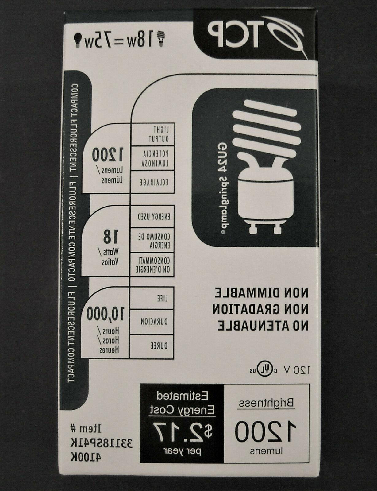 TCP 33118SP41K 4100K Twist GU24 Spring Lamp 75W Equal CFL
