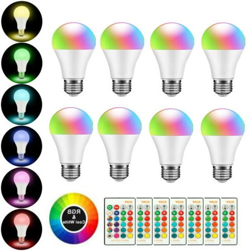 3pcs E26 RGBW LED Light Bulb Color Magic Remote