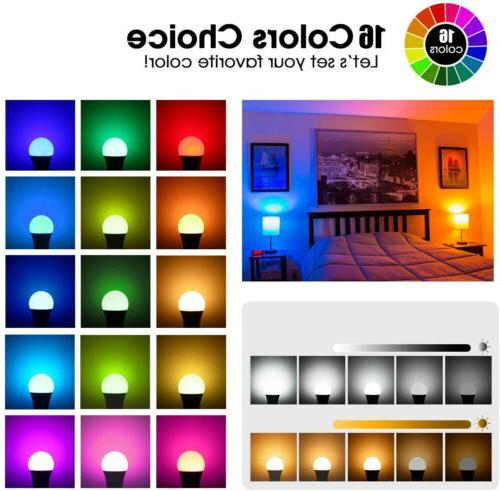3pcs E26 RGB RGBW LED Multi Color Remote
