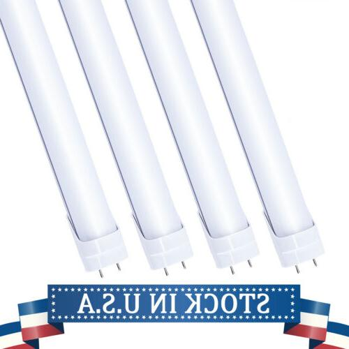 4-100Pack 4FT G13 Bi-Pin LED Tube 22W 6500K Bulbs