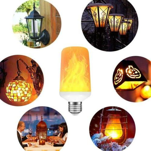 4-PACK E27 LED Flame Flickering Simulated Decorative