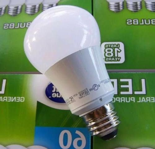 Great Value A19 60W Only 9W Non-Dimmable White