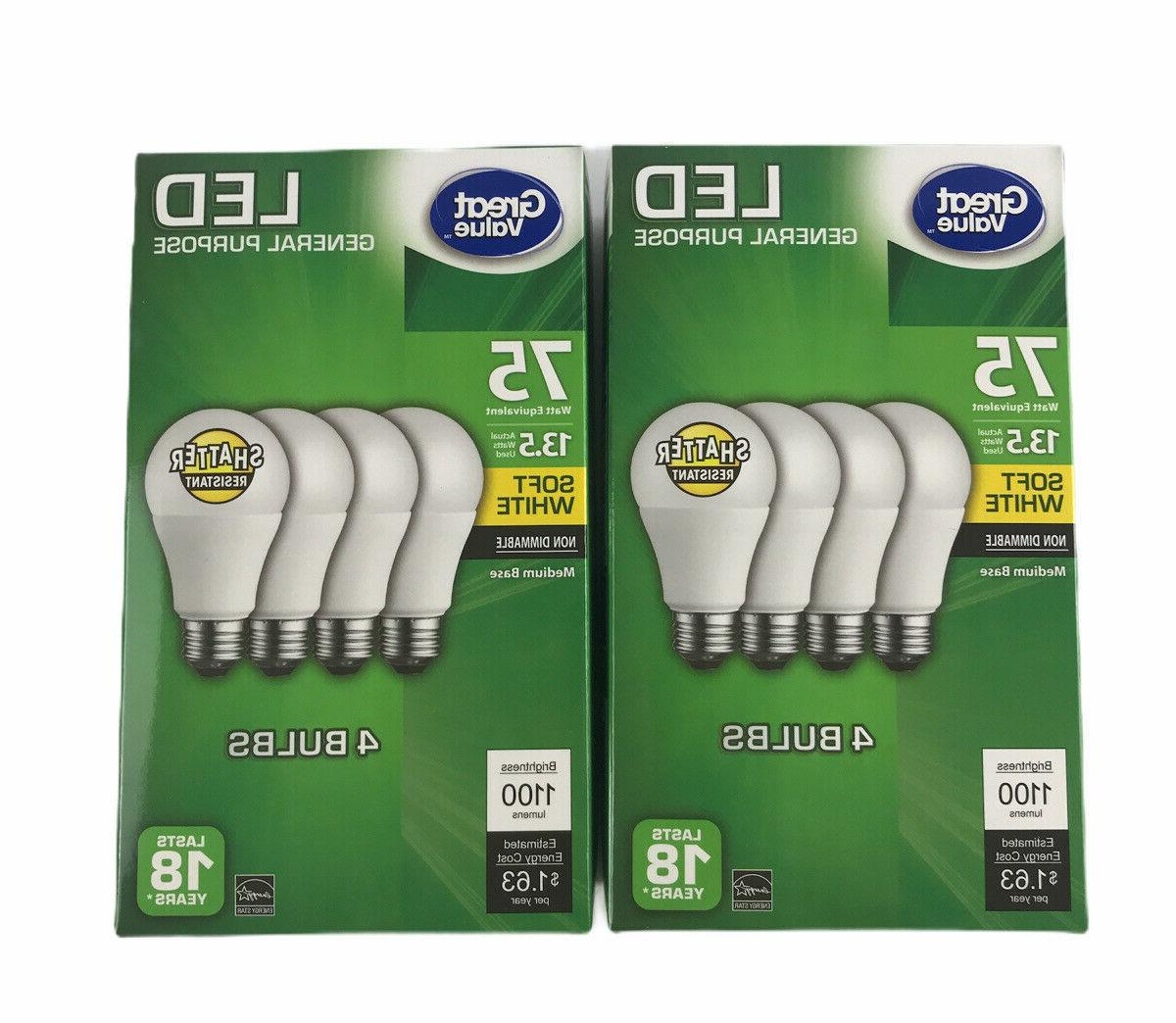 4 pack great value led a19 60w