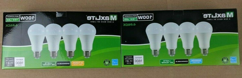 4 pack led light bulbs 15w a19