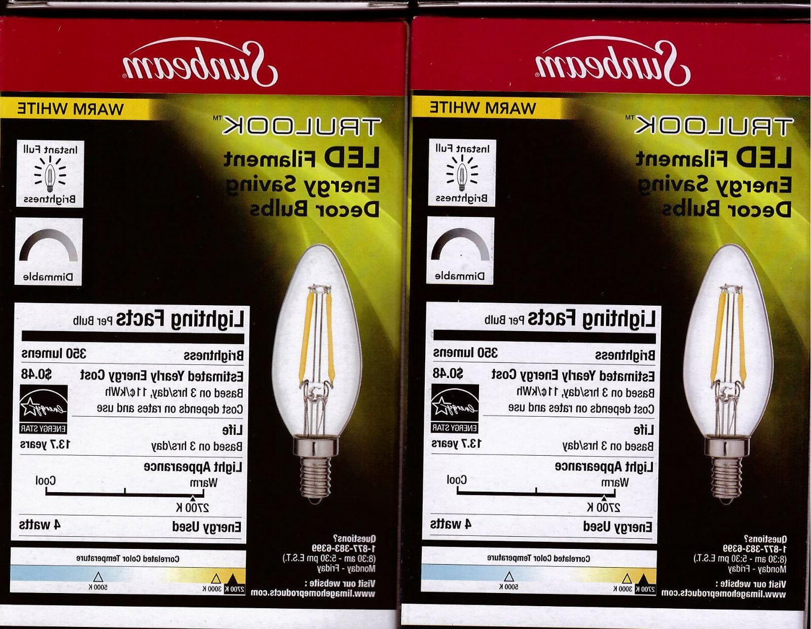 4 pack 4W E12 Dimmable Candle chandelier Fan Light