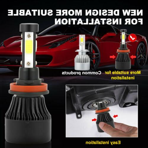 4-Side LED Bulbs H8 2800W Power White