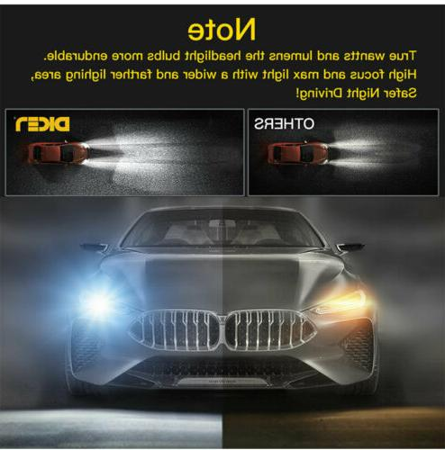 4-Side H11 Headlight Bulbs 2800W Power 6000K White BLACK