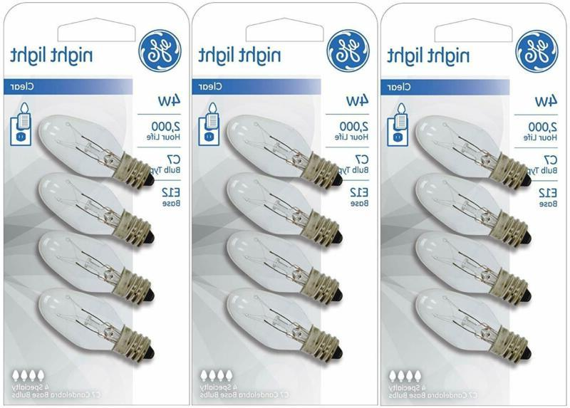 4 watt night light bulbs pack of