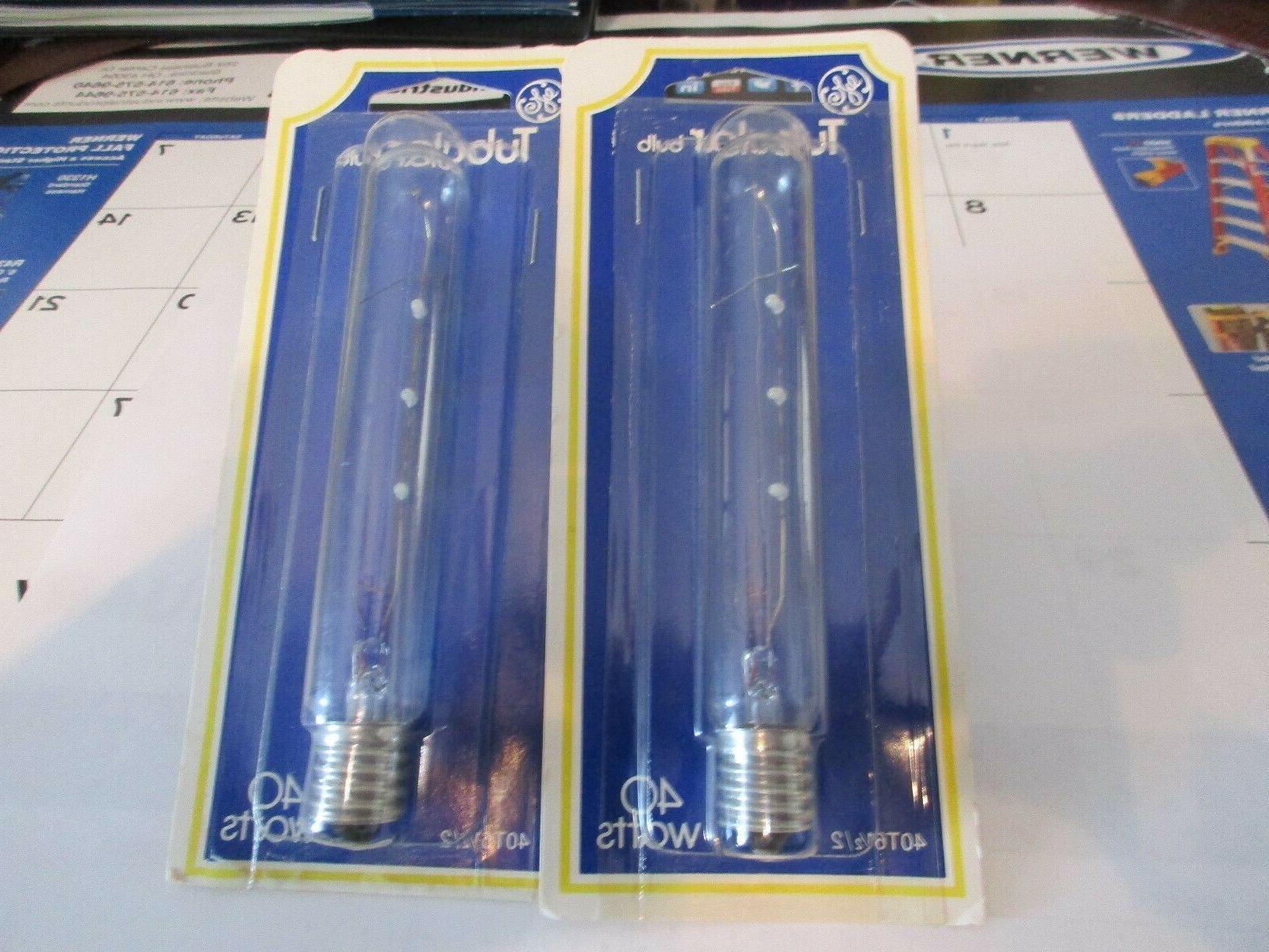 GE 40 Watt & 20 Watt Tubular bulbs Pcs.