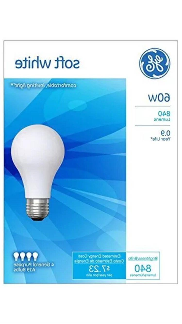 GE Lighting 41028 A19, Soft White,