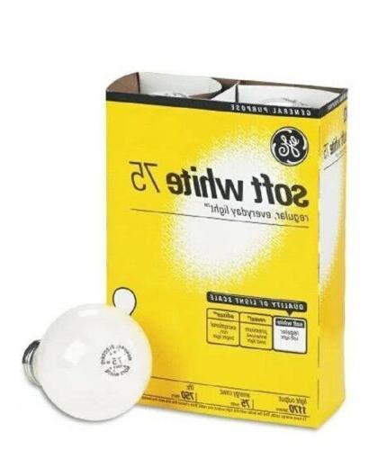 GE 41032 Standard Light Incandescent Bulbs E26 Base 75 Watt