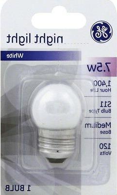 GE 41267 Nightlight Incandescent Bulb S11 Medium Screw  120V