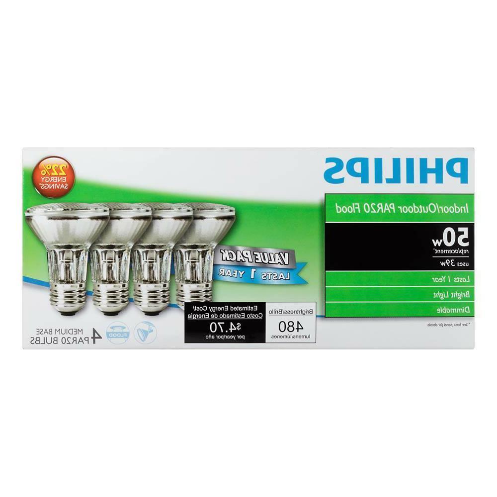 Philips PAR20 EcoVantage Flood Light Light Bulb, 4-Pack