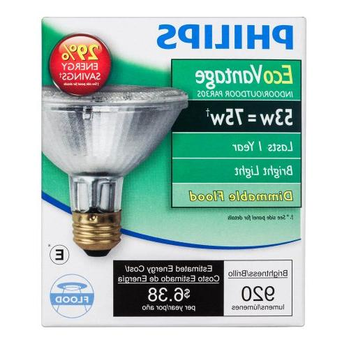 Philips Halogen Flood Bulb: 53-Watt , Screw