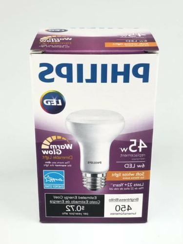 PHILIPS 456979 6R20/LED/827-22/DIM 45 Watt Equal R20 Warm Wh
