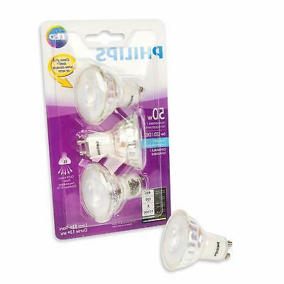 PHILIPS LED Equiv. Daylight Bulb, 3 Pack