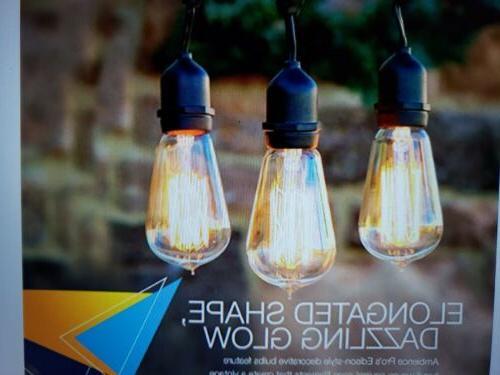48' Brightech Pro Edison Weatherproof 15 String Light