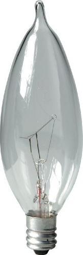 GE Lighting 48396 15-Watt Crystal Clear Bent Tip CA10, 2-Pac